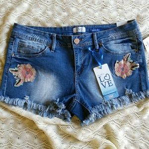 NWT!! YMI Embroidered Jean Shorts